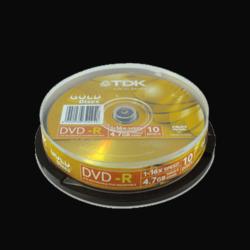 25 דיסקים DVD-R לצריבה TDK