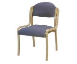 כסא אורח ריפוד בד ללא ידיות דגם קלאס