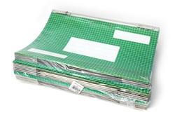 25 תיקי תלייה, מתלה מתכת כפול, קליפ פייל 9002
