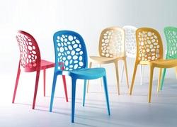 כסא מסעדה פלסטיק דגם בועות