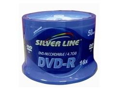 50 דיסקים DVD-R לצריבה Silver Line1