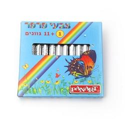 12 צבעי פסטל פרפר בקופסא
