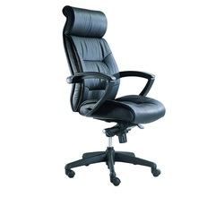 כסא מנהלים ריפוד עור אמיתי דגם פנטגון גבוה
