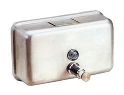 מתקן סבון אופקי מנירוסטה, 1.2 ליטר