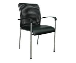 כסא אורח גב רשת עם ידיות דגם מיאמי