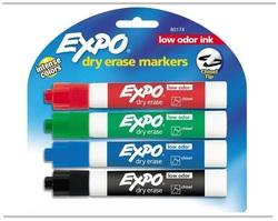 סט 4 טושים מחיקים Expo