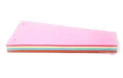 100 חוצצים  טרפז צבעוניים עם חורים