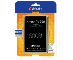 כונן חיצוני 500GB Verbatim