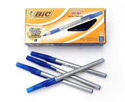 12 עט כדורי ראונדסטיק גריפ Bic
