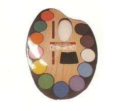 12 צבעי מים על לוח עץ Leonardo