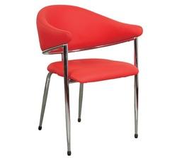 כסא אורח ריפוד PU דמוי עור דגם אטלנטה