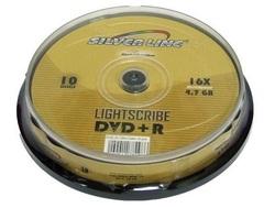 10 דיסקים DVD+R להדפסה Silver Line