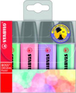 סט 4 מדגשים צבעי פסטל סטבילו