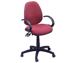 כסא מזכירה עם ידיות ברבור דגם דין B