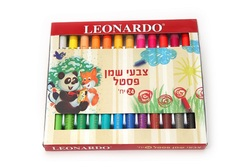 24 צבעי פסטל שמן Leonardo